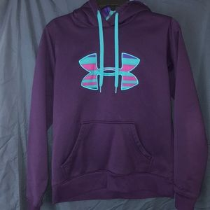 Under Armour dark purple hoodie